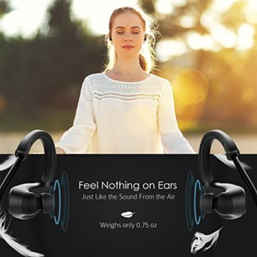 Bluetooth Sportkopfhörer, Mpow Cheetah Bluetooth Kopfhörer 4.1 Wireless Sport Stereo Kopfhörer Joggen mit AptX und Mikrofon der Freisprechfunktion für iPhone 7 SE 6 6S 6 Plus 6S Plus 5S 5 5C 4S 4, Samsung Galaxy S7 S7 edge S6 S6 Edge S5 S4 Mini, HTC M9 M8, Sony Z5 Z4 Z3 Compact, MP3 Players usw. -Schwarz - 6